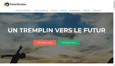 Site internet de Pacte Novation SA