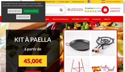Site internet de Paella du Sud