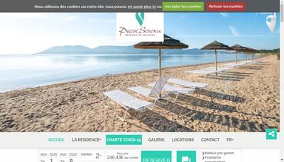 Site internet de Residence Paese Serenu Hotel Marina Corsica