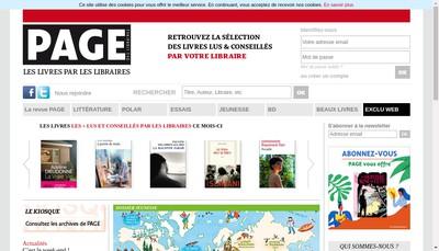 Site internet de Presses et Livres en Reseau (PLR)