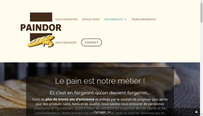 Site internet de Paindor