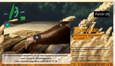 Site internet de Pains de Beaufort