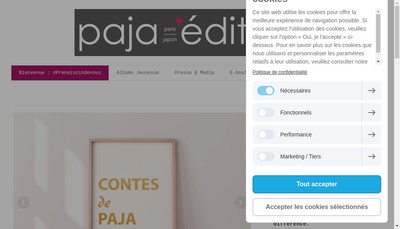 Site internet de Paja Editions