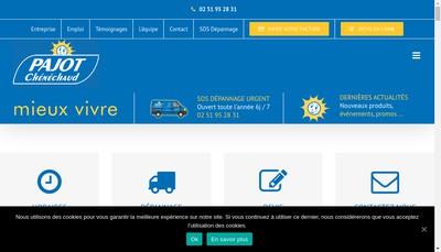 Site internet de Pajot-Chenechaud