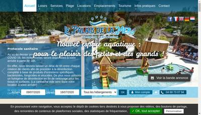 Site internet de Palais de la Mer