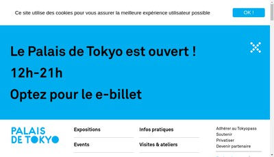 Site internet de Palais de Tokyo