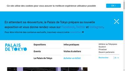 Site internet de Les Amis du Palais de Tokyo