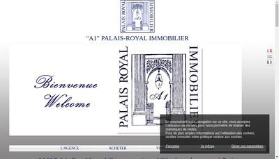Site internet de A1 Palais Royal Immobilier