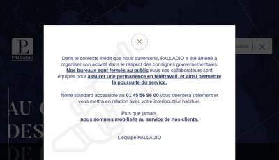 Site internet de Palladio