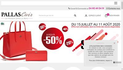 Site internet de SARL Pallas Cuir