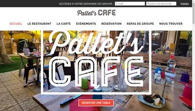 Site internet de Pallet'S Cafe