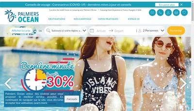Site internet de Palmiers Ocean