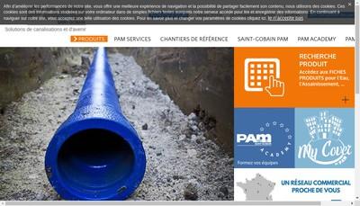 Site internet de Saint Gobain Pam