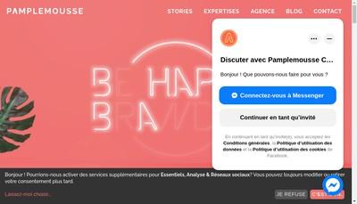 Site internet de Pamplemousse Communication Annecy