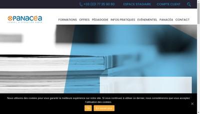 Site internet de Panacea Assurances