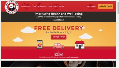 Site internet de Panda Express
