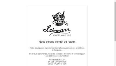 Site internet de Panier Lehmann