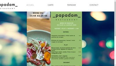 Site internet de Papadam
