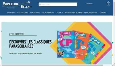 Site internet de Papeterie Bellati