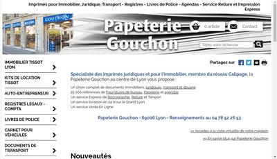 Site internet de Papeterie Gouchon