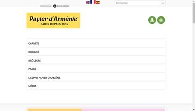 Site internet de Le Papier d'Armenie