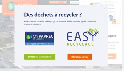 Site internet de Paprec France