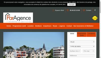 Site internet de SARL Paragence