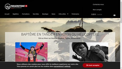 Site internet de Parachutisme 74