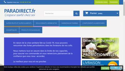 Site internet de Paradirect