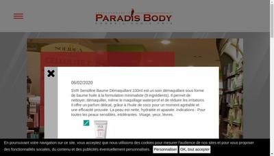 Site internet de Paradis Boby