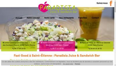 Site internet de Paradisia