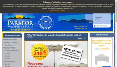 Site internet de Parafor