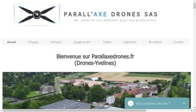 Site internet de Parall'Axe Drones SAS