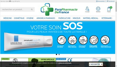 Site internet de Pharmacie Defrance