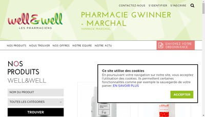 Site internet de SELARL Pharmacie Gwinner Marchal