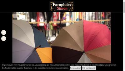 Site internet de Parapluies Simon