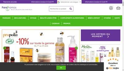 Site internet de Pharmacie de la Trinite