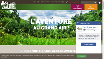 Site internet de Alsace Aventure Holding