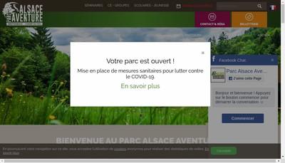 Site internet de Parc Alsace Aventure
