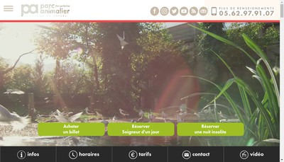 Site internet de Parc Animalier des Pyrenees