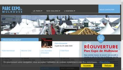 Site internet de Mulhouse Expo
