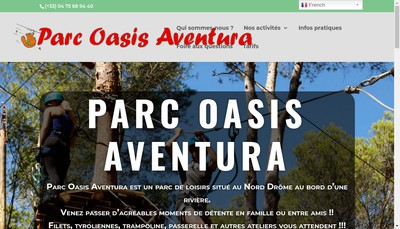 Site internet de Parc Oasis Aventura