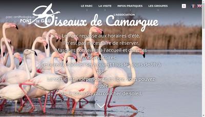 Site internet de Parc Ornithologique du Pont de Gau