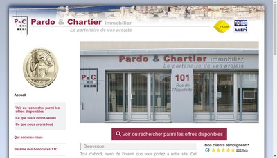 Site internet de Pardo & Chartier Immobilier