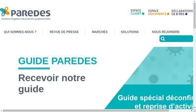 Site internet de Paredes Paris