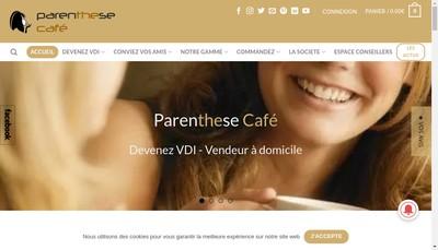 Site internet de Parenthese Cafe