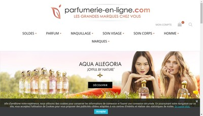 Site internet de Parfumerie Mireille
