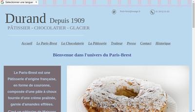 Site internet de Durand et Fils