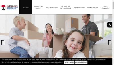 Site internet de Etablissement Biguet