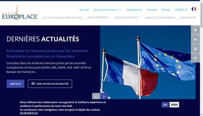 Site internet de Paris Europlace